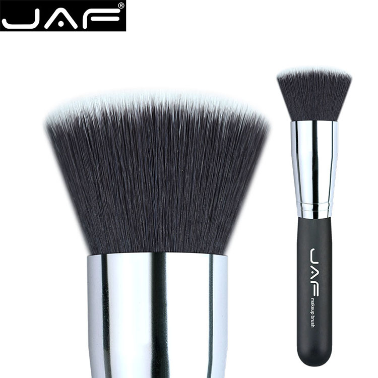 JAF  liquid Powder Makeup flat Top Foundation Brushes Contour Brush Blush Blending Cosmetic Beauty tool 18SSYL msq cosmetic single make up powder foundation brush blush angled flat top base liquid cosmetic makeup brush tool