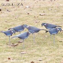 GUGULUZA 6 шт. сад EVA мягкий голубь в виде ракушки охотничья приманка окрашенная дерево голубь Охота Стрельба всего тела+ палка движущийся