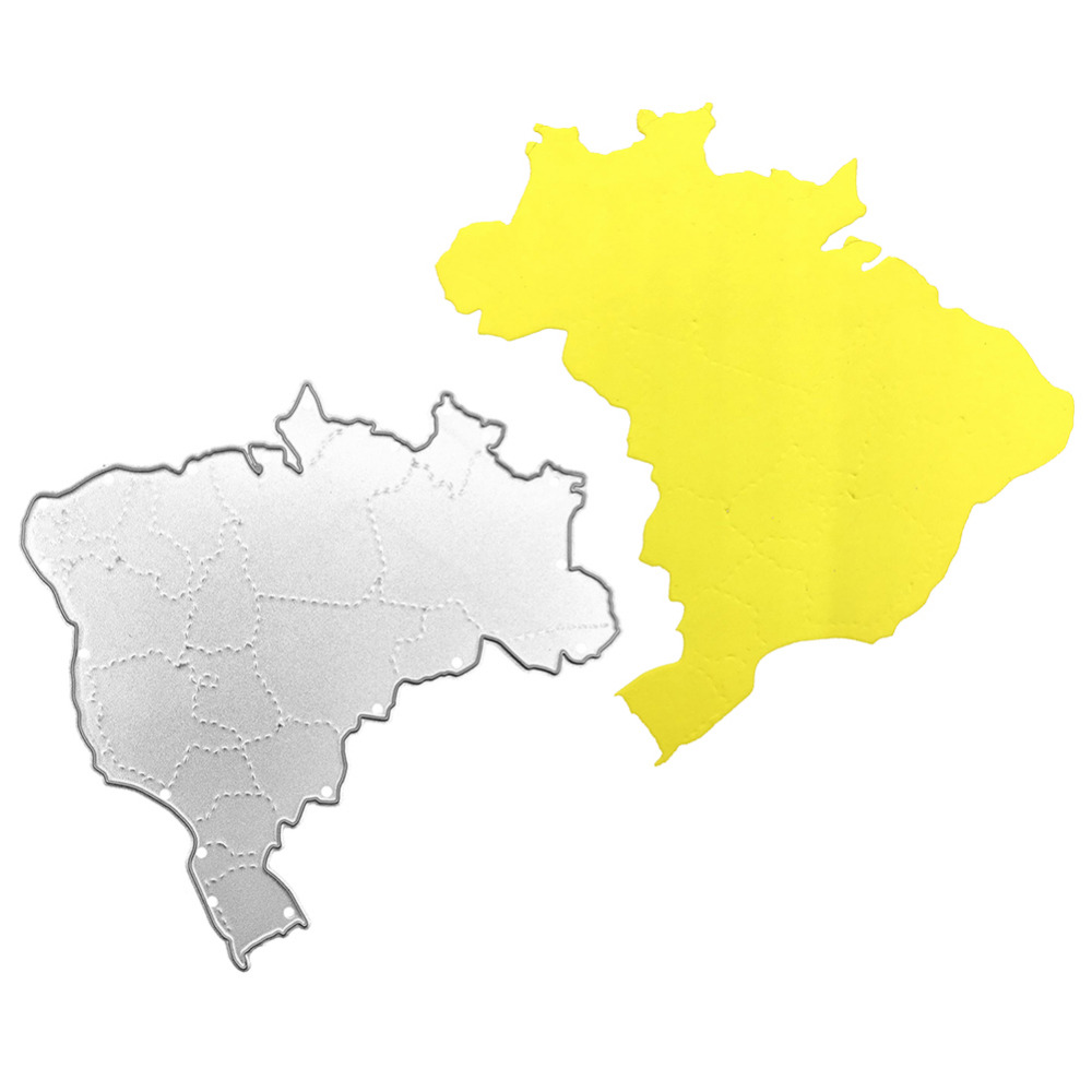 World cup series brazil map metal cutting dies stencils greeting world cup series brazil map metal cutting dies stencils greeting cards decor diy scrapbooking scrapbook paper photo album craft in cutting dies from home gumiabroncs Gallery