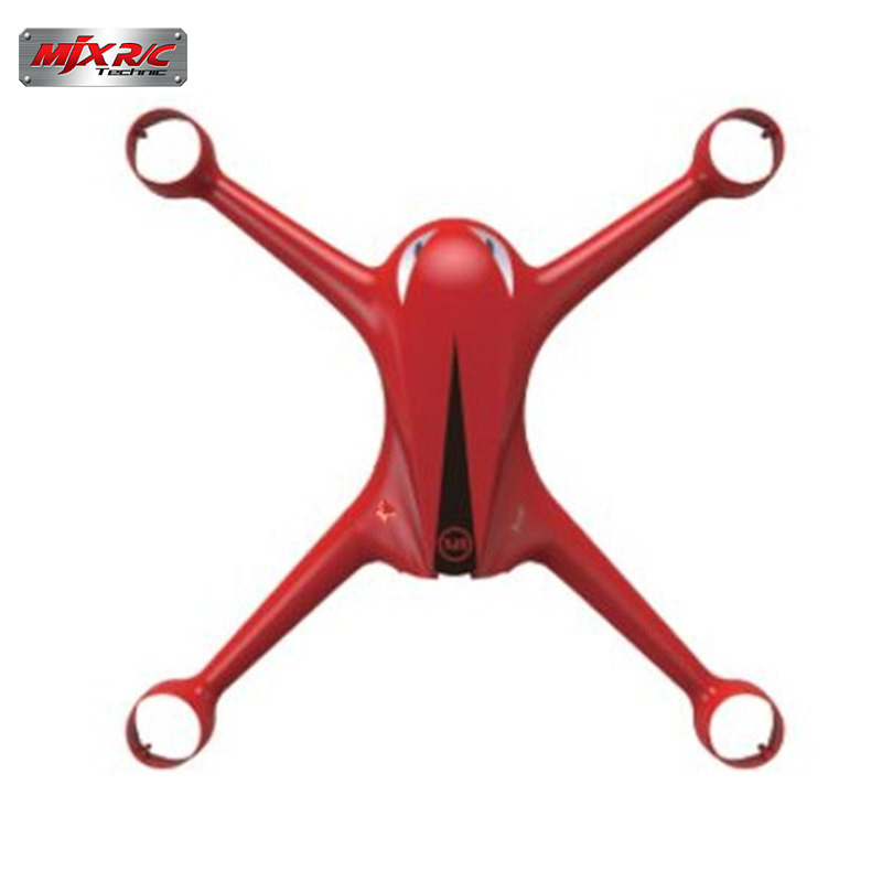 MJX B2W Bugs 2 RC Quadcopter Spare Parts Upper Body Shell Cover Case Black Red For RC Multirotor Toys Replace Accs high quality mjx bugs 3 rc quadcopter spare parts landing gear for multirotors helicopter drone sparepart accessories accs