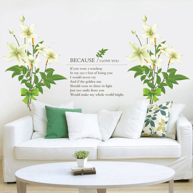 Diy Word Wall Flowers Sticker Sweet Home Decor Adesivo De Parede Pvc Decals Decoration Poster Stickers