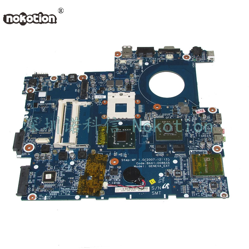 NOKOTION BA41-00863A laptop motherboard For samsung NP-R700 R700 965PM DDR2 Gefore Graphics Main board Free cpu works la 5971p for lenovo g455 laptop motherboard hd 4250m ddr2 free cpu