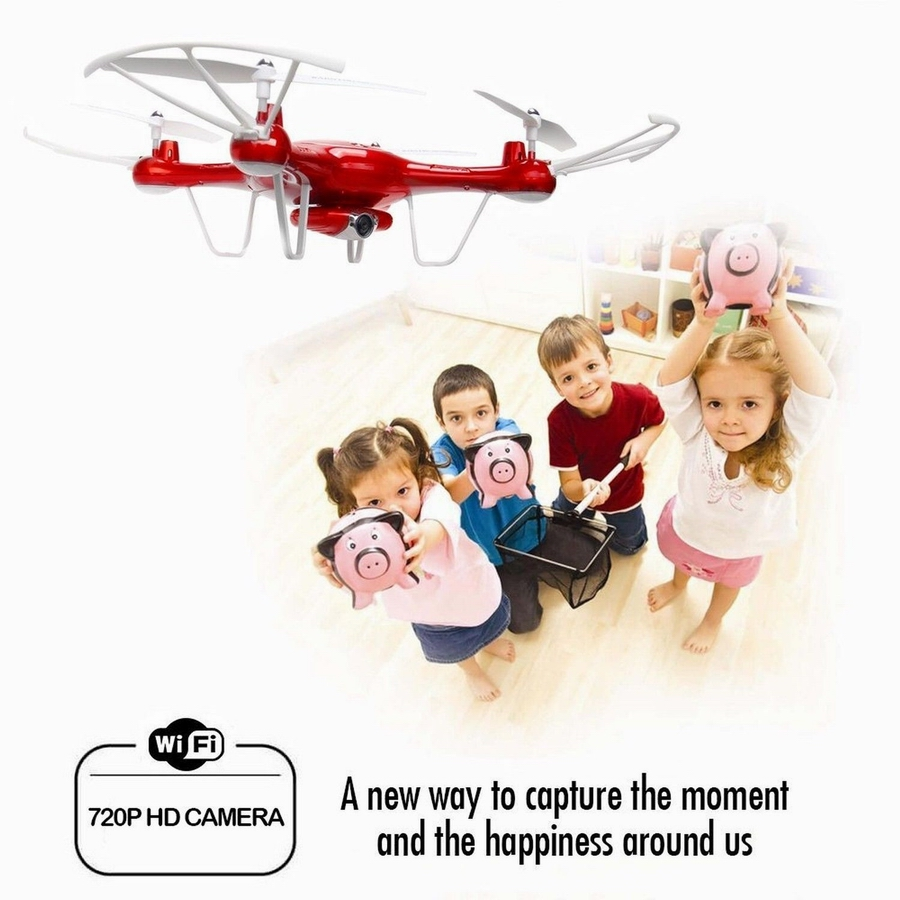 все цены на  X5UW FPV RC Quadcopter WIFI Camera HD Mobile Control,Path Flight,Height Hold,One Key Land 2.4G 6-Axis RC Helicopter VS X5UC  онлайн