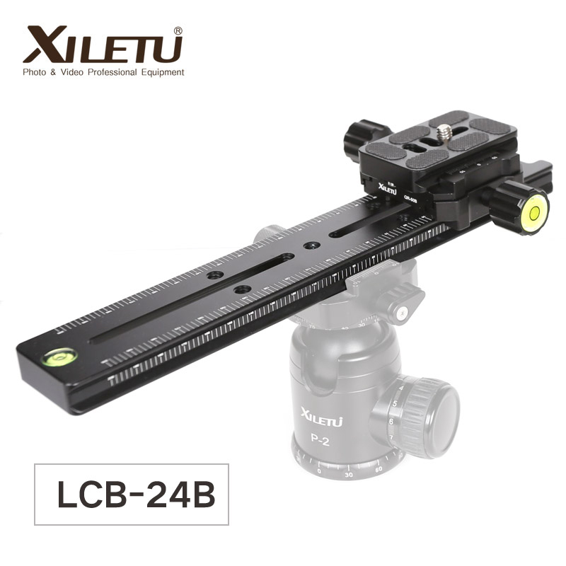 XILETU LCB 24B Track Dolly Slider Focusing Focus Rail Slider & Clamp and QR Plate Meet Arca Swiss For DSLR Camera Canon-in Tripod Heads from Consumer Electronics