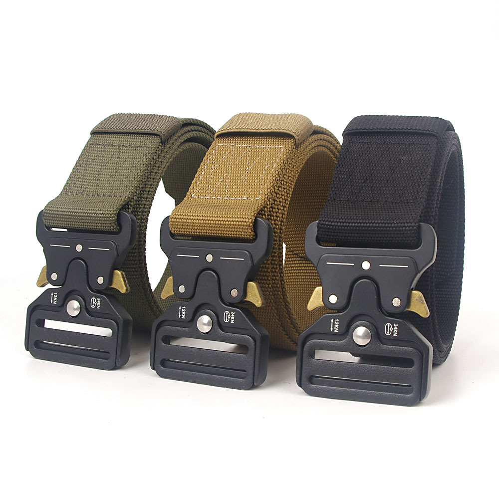 125-140CM Long Tactical Canvas Outdoor Nylon Belt Big Size Cobra Style Belt Buckle Multifunctional High Quality Ceintures
