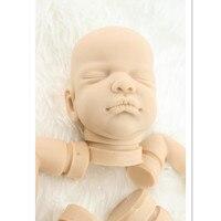 Seltene Limitierte Auflage Feste Weichen Silikon Reborn Babypuppen Kit Lebensechte Puppe Kits, Echt Aussehende Reborn Baby Bausätze zinn Entkernt