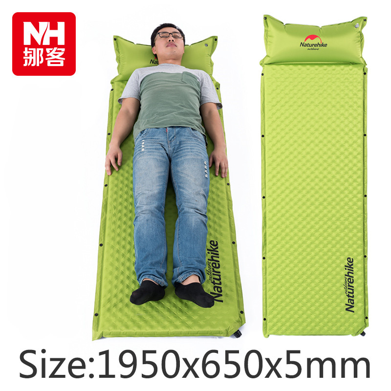 free shipping Naturehike 1 Person Automatic Inflatable Cushion Moistureproof Tent Mat Splicing Air mattresses naturehike camping mat 1 person automatic self inflating inflatable cushion moistureproof tent mat splicing air mattresses