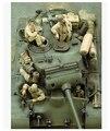 Modelos a escala 1/35 WW2 tanque americano M26 4 soldados no incluye el tanque WWII resina modelo envío gratis