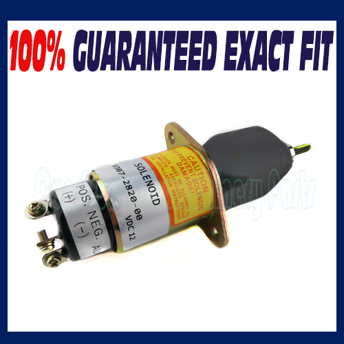 Stop Solenoid 307-2820 12v for Onan Cummins Generator 0307-2820-00 3924450 2001es 12 fuel shutdown solenoid valve for cummins hitachi