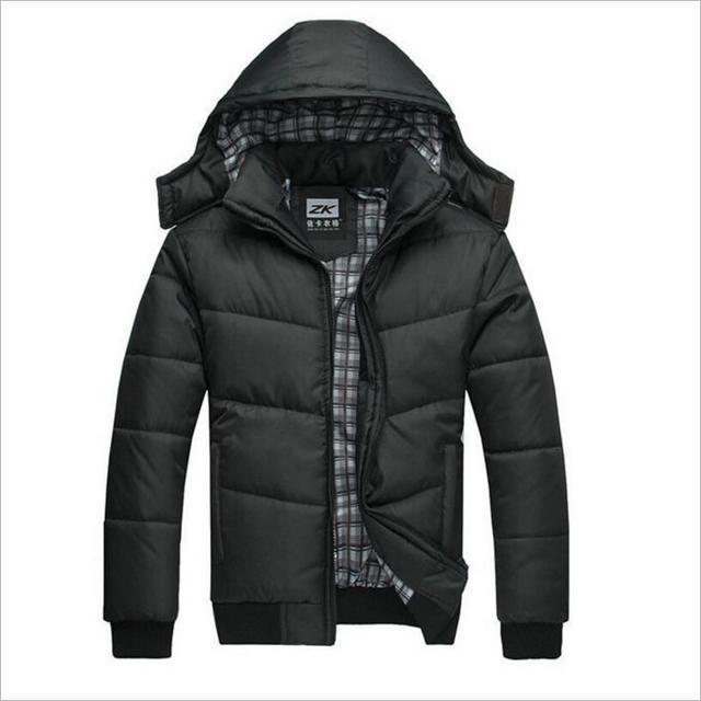 HOT New 2020 แบรนด์ชายเสื้อฤดูหนาวเสื้อแจ็คเก็ตขนาดใหญ่M 4XLใหม่มาถึงCasual Slim Cotton Hooded Parkas Casaco masculino