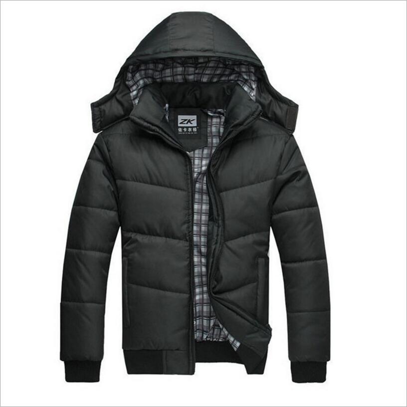 Quente novo 2019 marca jaqueta de inverno dos homens tamanho grande M-4XL nova chegada casual fino algodão com capuz parkas casaco masculino