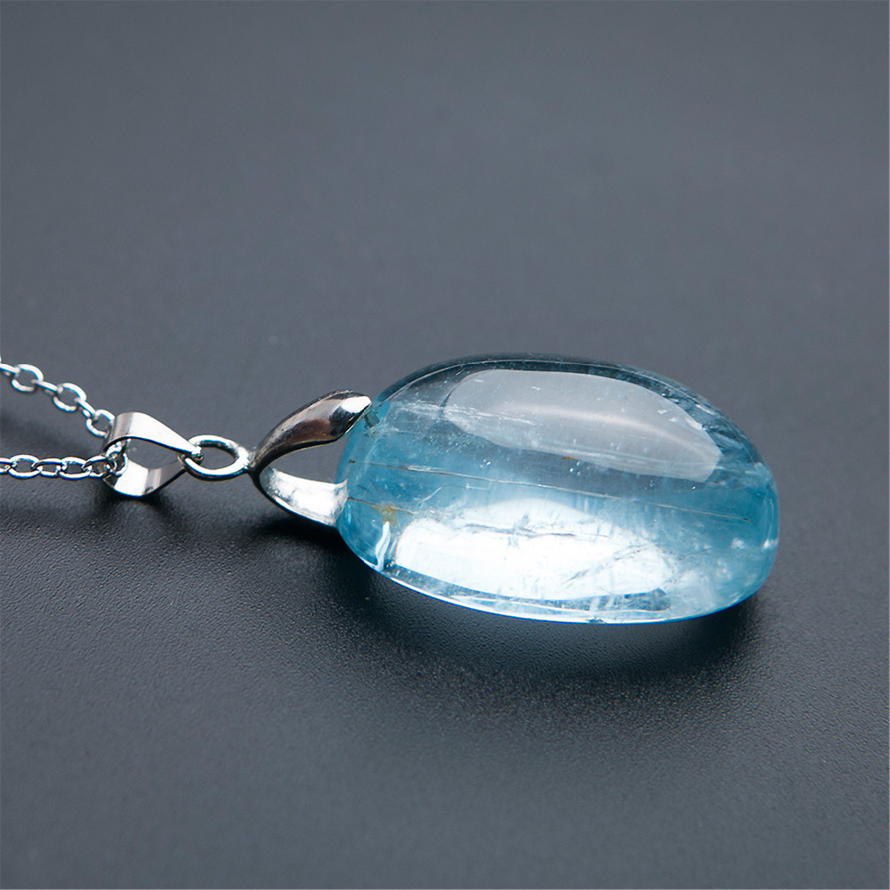 Natural Blue Lady Stretch Round Gem stone Bracelet Fashion AAAAAA Healing Stone