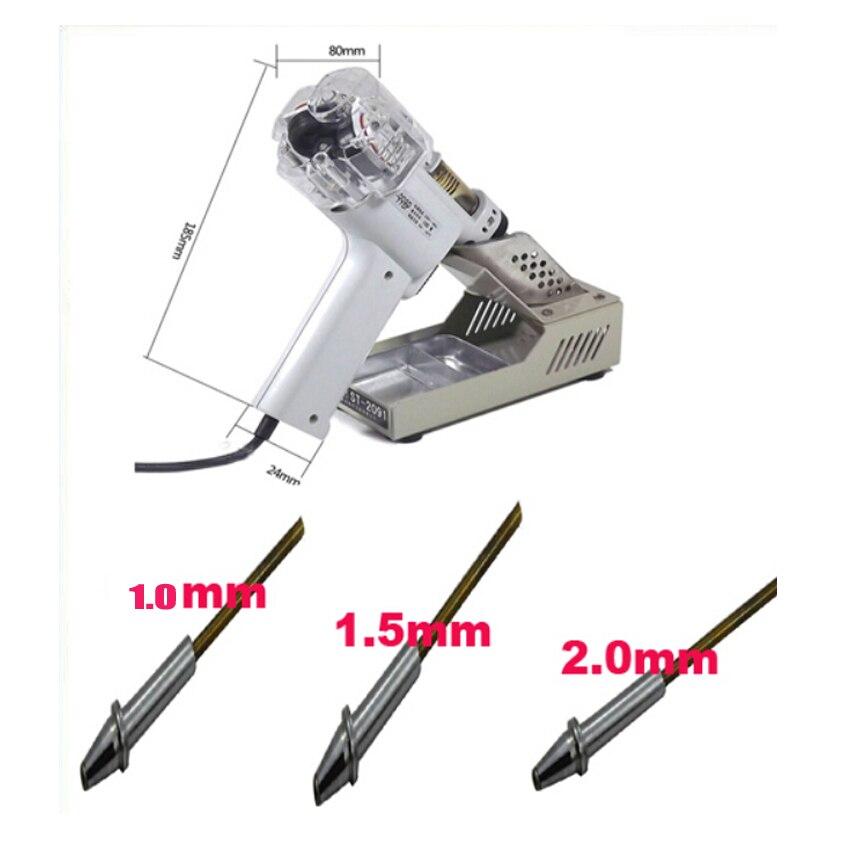 1 set 110/220 V 100 W S-998P Électrique Vide Double-Pompe Solder Sucker Dessouder Gun Fer À Souder