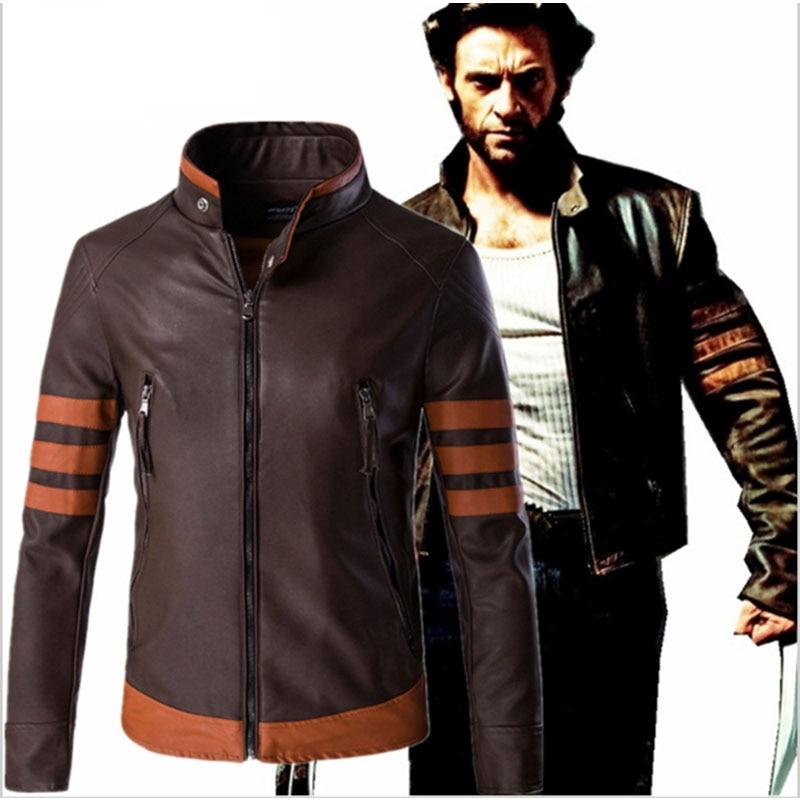 2018 New Men Leather Jacket Cosplay Fashion Patchwork PU Motorcycle Jacket Male Casual Windbreaker Coats