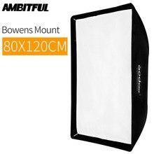 Godox SB UE 80 × 120 センチメートル/31 * 47 ポータブル長方形傘 Bowens マウントキャリーバッグのためのスタジオフラッシュ