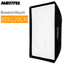 "Godox SB UE 80x120 cm/31 ""* 47"" 휴대용 직사각형 우산 bowens mount softbox with studio flash"