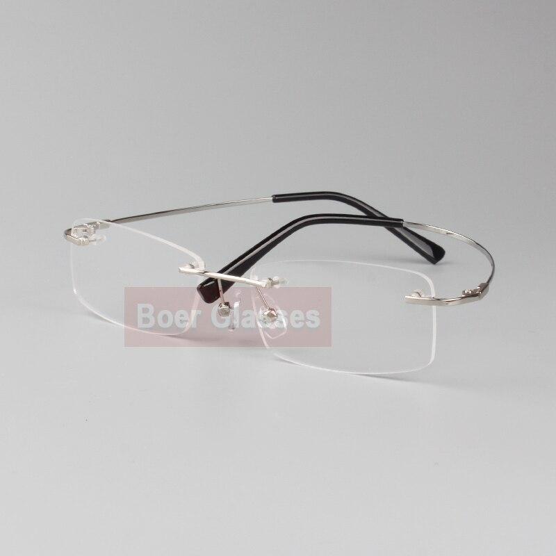 Rimless Glasses minne titan flexibla manglasögon glasögon - Kläder tillbehör - Foto 4