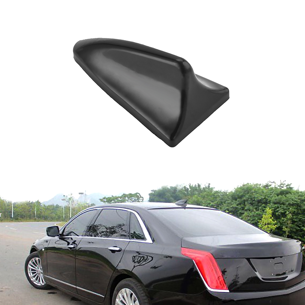 New Auto Car Roof Dummy Shark Fin Antenna Decorative Black Car Antenna Aerial Decoration Sticker For Universal