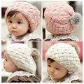 2017 sombrero del bebé cabritos del bebé foto atrezzo beanie, gorros de piel de conejo de imitación bebes toddler crochet beanie cap para 4 meses-3 años de edad, niña
