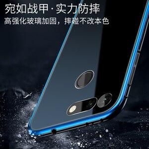 Image 4 - アルミニウム金属フレームケース Huawei 社の名誉 V20 ケース View20 強化ガラス裏表紙 Huawei 社の名誉 V20 金属バンパーケース