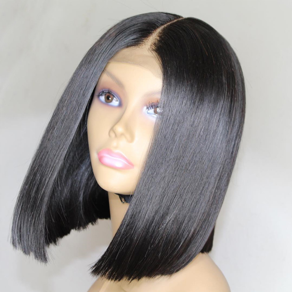 Eversilky Short Bob Wig Lace Front Human Hair Wigs For Black Women Peruvian Remy Hair Pre