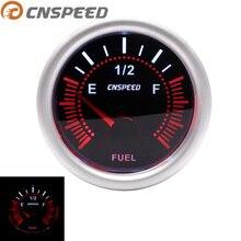 """CNSPEED 12 В Автомобильный датчик уровня топлива E-1/2-F указатель """" 52 мм Универсальный Белый светодиодный измеритель дыма с датчиком топлива Масляный поплавок YC101317"""