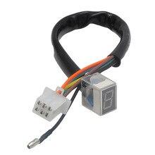 7- Line Red Modified Motorcycle Digital LED Gear Indicator Shift Lever Sensor