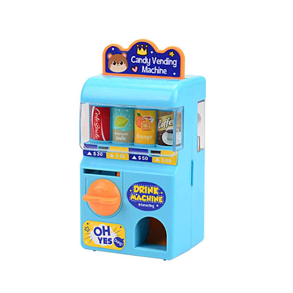 Puzzle Mini Lottery Machine Manual Rocker Rolling Coin Drink Machinery Toys Children Education Puzzle Game Supplies