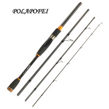 2.1M 2.4M 2.7M Carbon Fishing Rod Spinning Casting Pole 4 Section M Boat Fish Rod Peche Pesca Fishing Tackle Fit Shimano Reel E