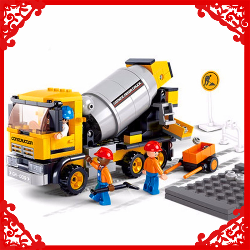 SLUBAN B0550 Cement Mixer Engineering Model Building Block 296Pcs DIY Educational  Toys For Children Compatible Legoe  обои ланита 2 0550