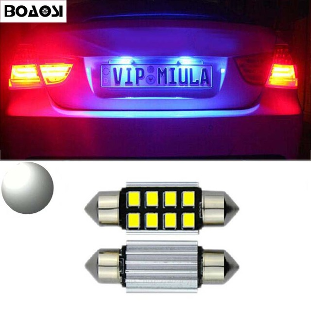 US $4 25 33% OFF|BOAOSI 2x CANbus LED 36mm C5W 2835SMD Lamp Bulb  Registration Number Plate License Light For Kia Sportage Cerato-in Car  Light Assembly