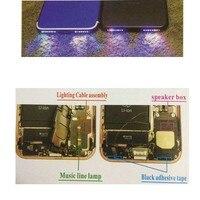 Phonefix alto falante luz sensor de movimento cabo inteligente telefone música led luz cabo flexível para iphone 6 7 seires substituições|Conjuntos ferramenta manual| |  -