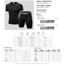 Quick Dry Compression Suit Short Sleeve Shirt+Shorts Men's Running Set