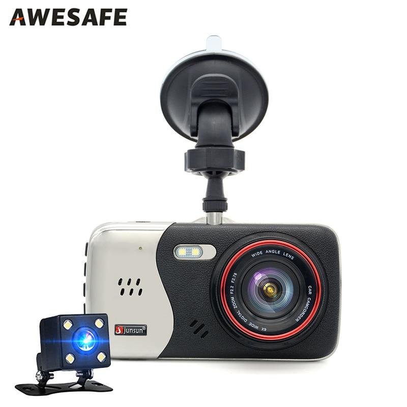 ФОТО New Dual Lens Car DVR Camera Dash Cam Full HD 1080P Video Recorder Parking Monitor Auto Camera Motion Detection Night vision