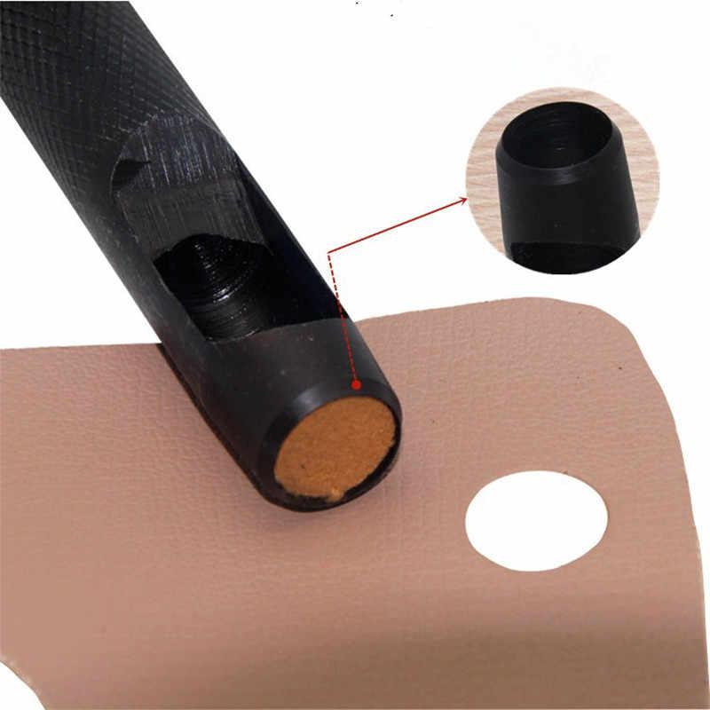 1-10mm redondo de acero de cuero artesanal agujero hueco herramienta cortador trabajo para correa Correa reloj banda trituradora de madera de plástico