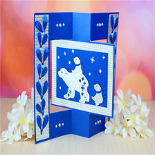 Animal Bear Cutting Dies Lovely Stencil Metal for Scrapbooking Album Embossing Paper Card Craft