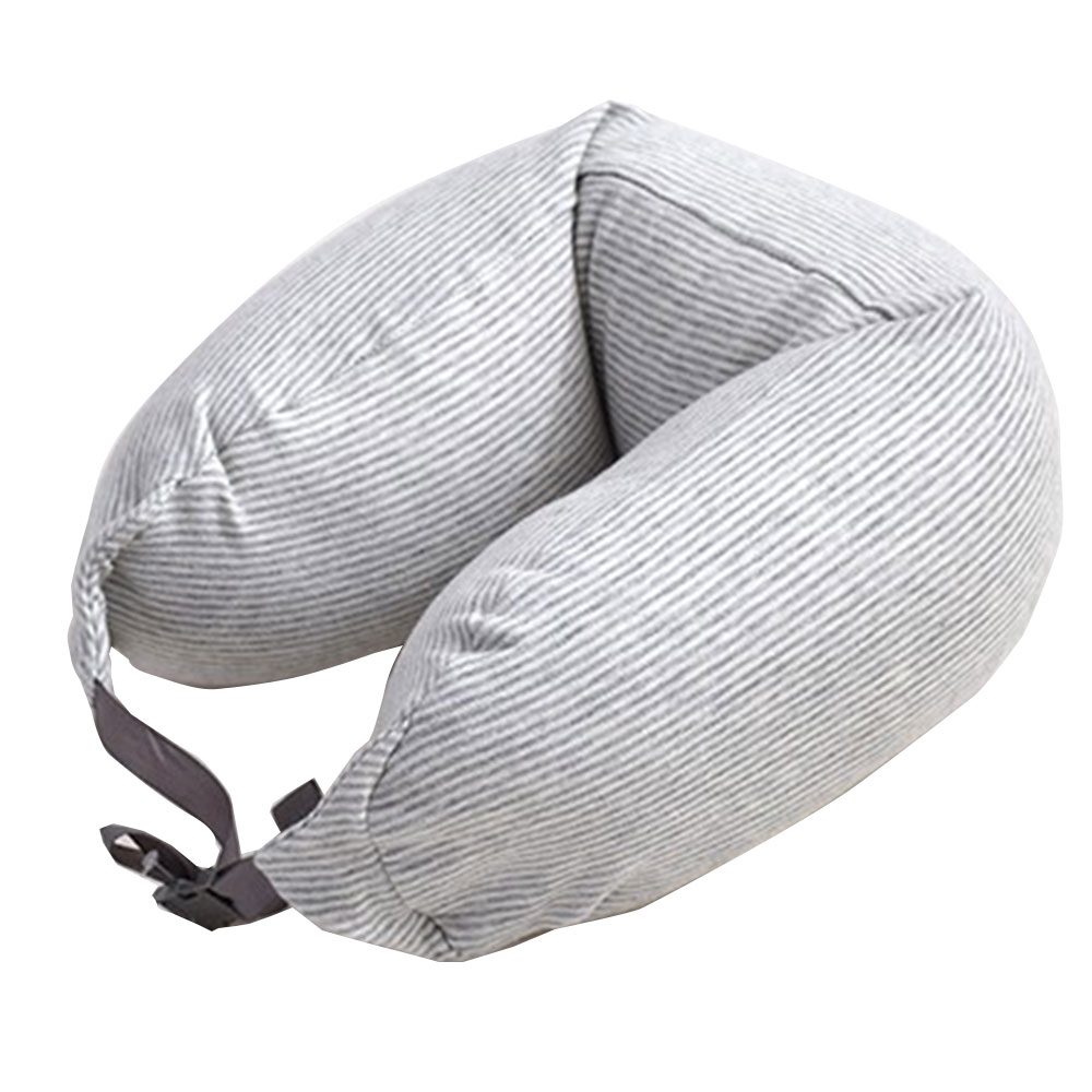 Neck Pillow Beach Portable U-Shaped Soft Travel Home Cotton Pillows
