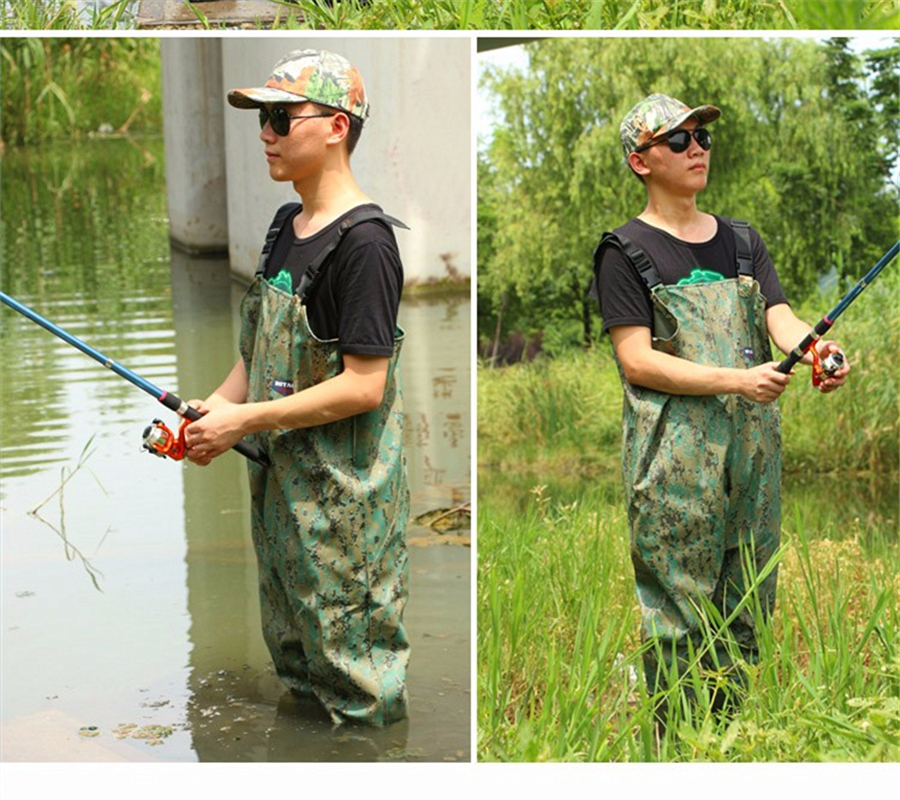 Outdoor Light comfortable Wear chest fishing waders <font><b>boot</b></font> waterproof Camouflage breathable fly wading rubber pants wader <font><b>boots</b></font>