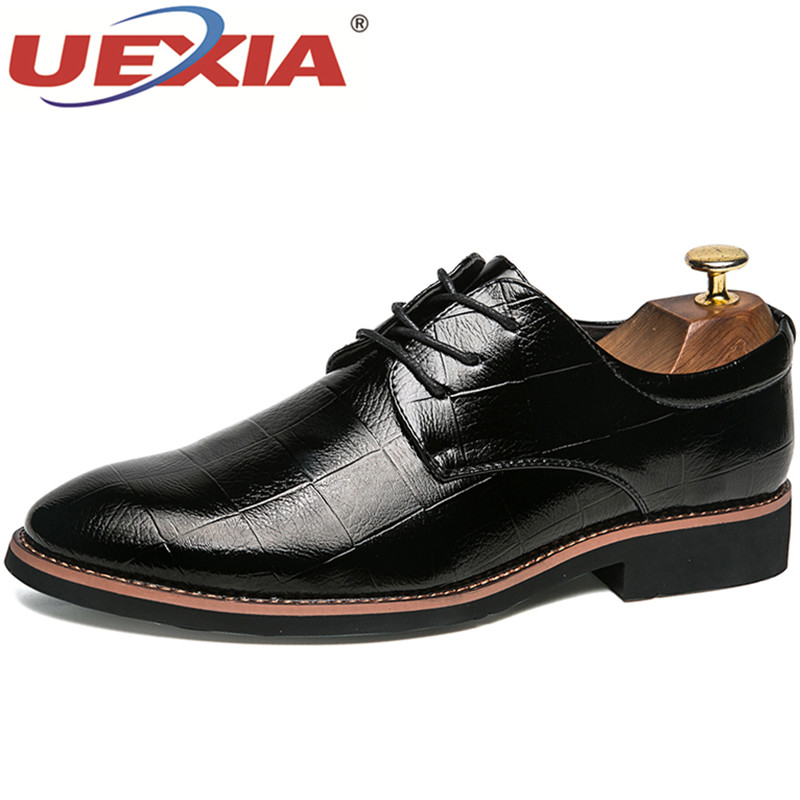 UEXIA Dress Shoes Pointed Toe Business Wedding Leather Moccasins Flats formal Men Casual Leather Shoes Luxury Brand Designer mycolen men formal shoes luxury business dress shoes full leather pointed toe loafers men wedding leather shoe black moccasins