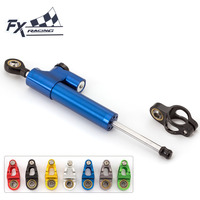 FX CNC Universal Aluminum Motorcycle Damper Steering Stabilize Linear Reversed Safety Control For Ducati 696 796