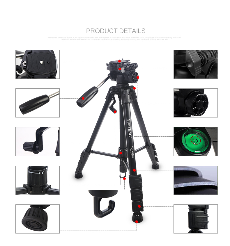 DHL for free Professional Carbon Fiber Tripod & Monopod yunteng Pro For DSLR Camera / Portable Traveling Tripod Max load to 13kg sirui a 1205 a1205 tripod professional carbon fiber flexible monopod for camera with y11 ball head 5 section free shipping