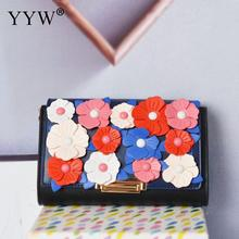 все цены на Floral Flap Clutch Bag With Detachable Chain Black Handbag For Women Wedding Party Waterproof Purse Handbag Vintage Clutch Bag онлайн
