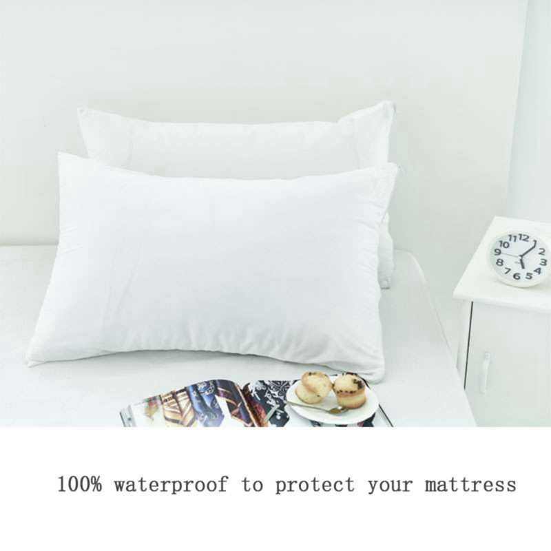 New <font><b>50x70</b></font> cm 2pcs White Knitted Fabric Cloth <font><b>Pillow</b></font> <font><b>Cases</b></font> Anti-mite Waterproof Soft and Comfortable Hotel Style Polyester P image