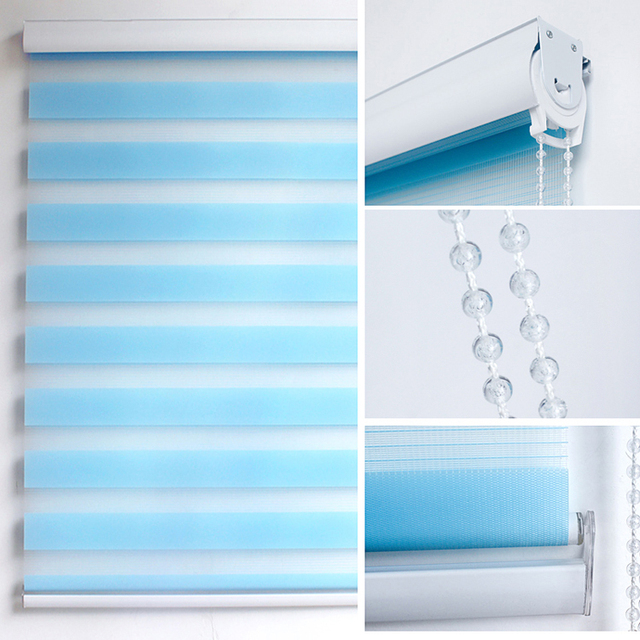 Thicken Blackout Window Blinds Zebra Roller Blinds Shades Waterproof  Curtain Kitchen Bathroom Bedroom Office Custom Size