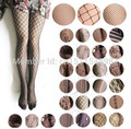 Sexy Women Female  Black Fishnet Net Pattern Tights Long Stockings Trouser Jacquard Sheer Hosiery Pantyhose Tights CYK027