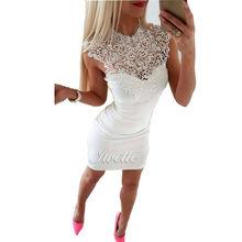 New Brand Women Sexy Lace Bandage Bodycon Slim Dress Clubwear Evening Party Sleeveless Sheath Short Dress S-XXL женское платье dress new brand 2015 bodycon women dress
