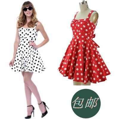 rode jurk met witte stippen