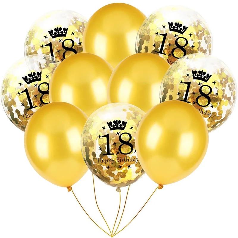 10pcs Party Balloons Confetti Latex Happy Birthday Balloons Wedding Home Decor