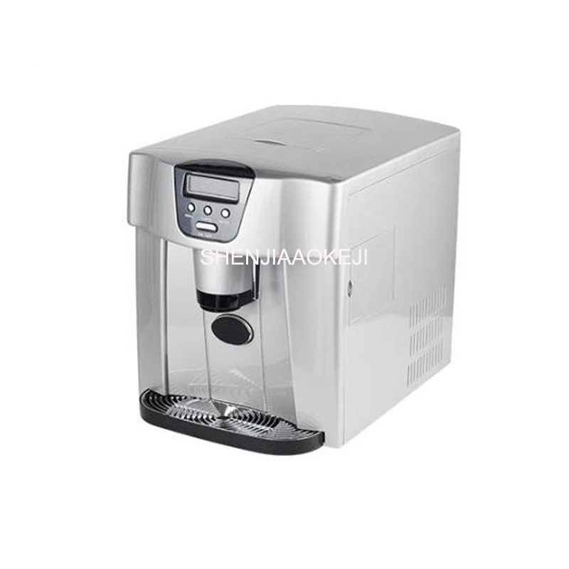 Electric Ice Maker ZB-10 Water Cooler Dual-use Automatic Ice Machine Cold Water Function Automatic Water Inlet 220-240V 1pc