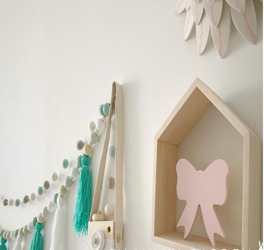 nordic stijl omzoomd houten kinderwagen ornament baby slaapkamer wanddecoratie hanger baby bed hoofd ornament 1 stks in nordic stijl omzoomd houten
